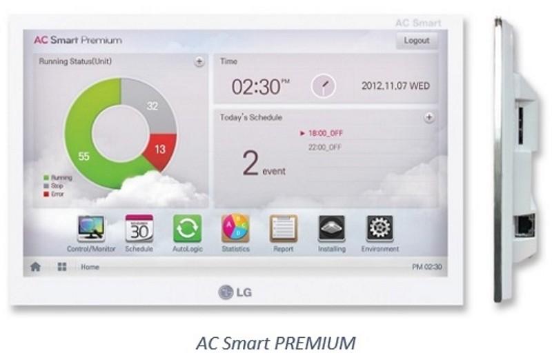 Sterowniki centralne AC Smart, AC Smart Premium oraz ścienne sterowniki przewodowe Deluxe LG Electronics